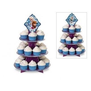 Présentoir à cupcakes La Reine des neiges