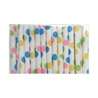 Baton à cake pops / Paille - Confetti pastel