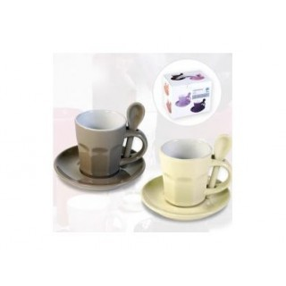 Tasses à café Intermezzo - Crème et café au lait