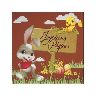 Feuille imprimée pour tablette carrée - Joyeuses Pâques