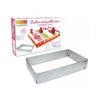 Cadre à gâteau rectangulaire ajustable