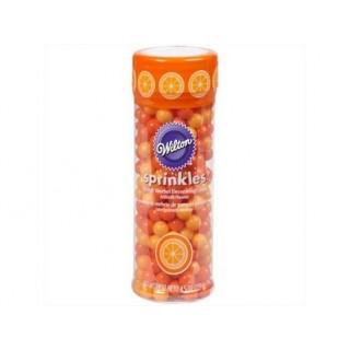 Perle orange et orange pâle