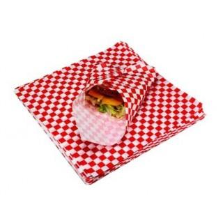Papier antigraisse - Vichy rouge