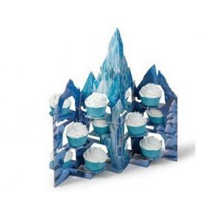 Présentoir à cupcakes Château La Reine des neiges