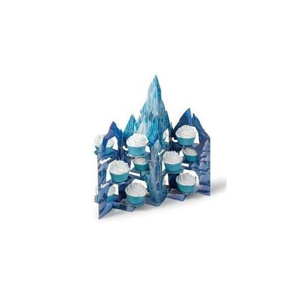 Pr sentoir cupcakes ch teau la reine des neiges for Chateau la reine des neiges