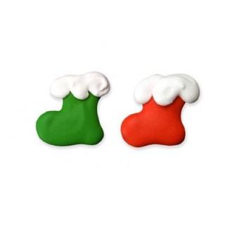 Mini bas de Noël rouge et vert