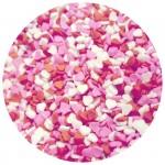 Mini coeur rose, rouge et blanc