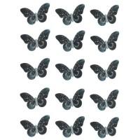 Papillon Noir comestible en papier de riz
