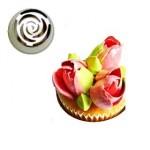 Grande douille pour fleur - BOUTON DE ROSE 3D