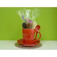 Ensemble cadeau Tasse à café et Crispearls - Rouge