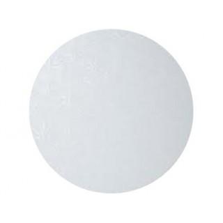 "Carton plateau rond blanc 10"" x 0.5"""