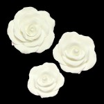 Roses blanches en pastillage