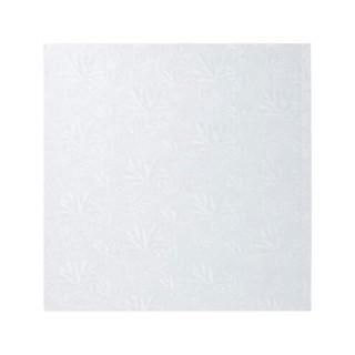 "Carton plateau carré blanc 14 x 0.5"""
