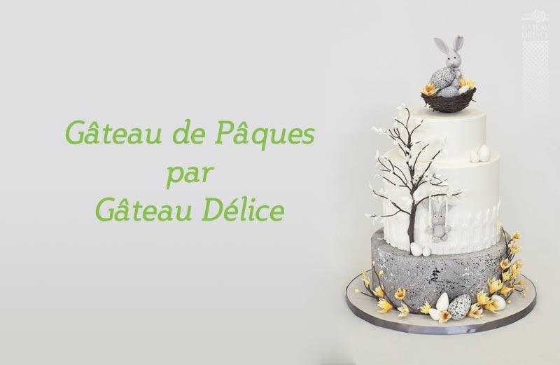Gâteau de Pâques pour la boutique d'accessoires de gâteaux à Québec Aux Arts de la Table