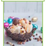 Comment faire un nid en chocolat.