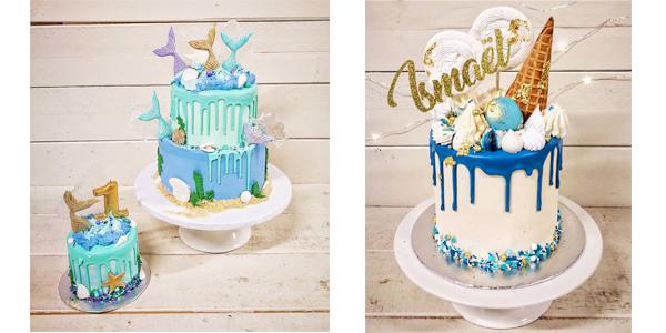 Gâteau style drip cake par Cake-toi situé à Longueuil.