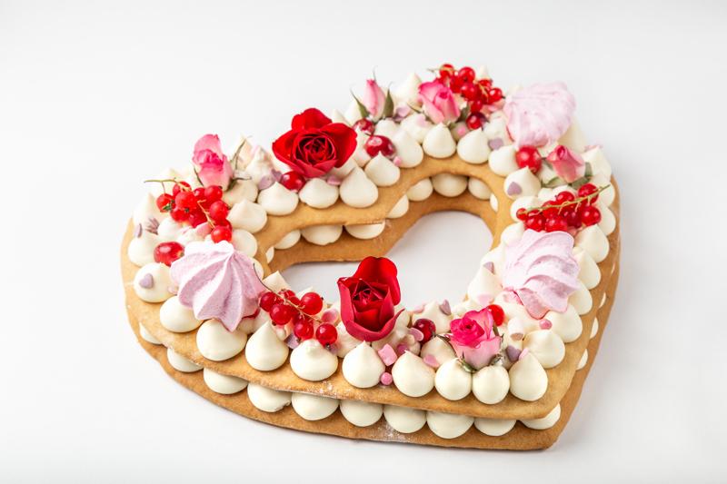Number cake en forme de coeur
