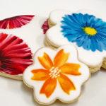 Peinture comestible sur des biscuits
