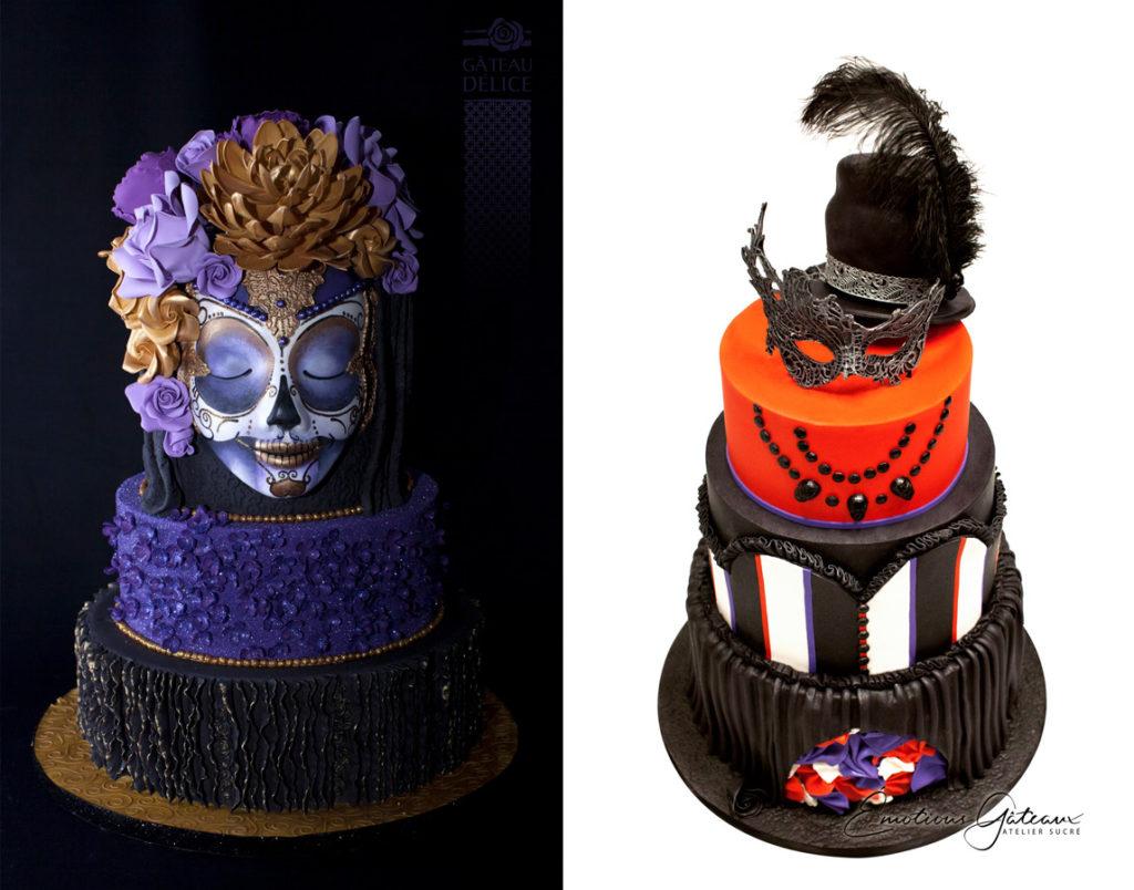 Deux idées de gâteaux pour un party d'Halloween.
