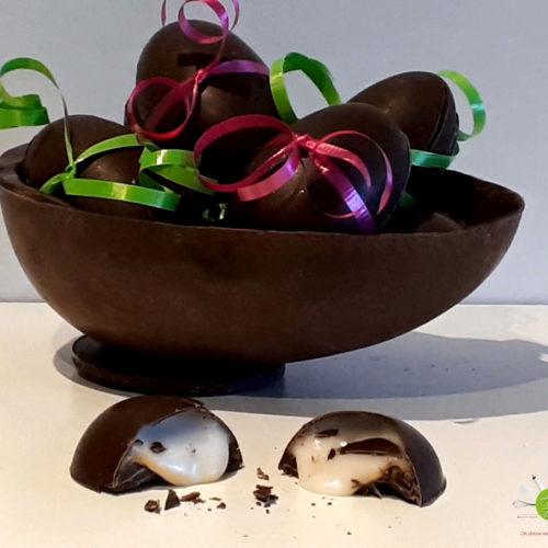 Oeuf Cadbury maison crémeux et coulant