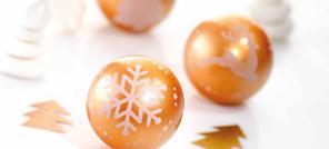 Moule à chocolat Boule de Noël Romance