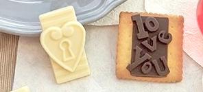 Moule à chocolat Étiquettes d'amour