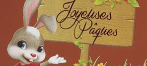 Feuille imprimée pour tablette carrée Joyeuses Päques
