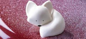 Petit renard en chocolat blanc